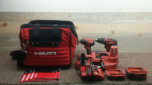 Hilti Drill impact Drill bandsaw Combo With Two Batteries And Charger