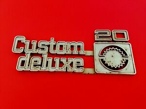 1975 1980 Chevy Custom Deluxe 20 Side Fender Emblem Badge Symbol Logo Oem 1976
