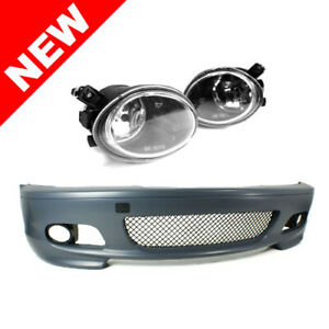00 06 Bmw E46 3 series 2dr M tech Ii Style Front Bumper W Clear Fog Lights