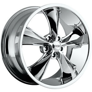 17x8 Chrome Foose Legend F105 Wheels 5x4 75 1 Fits Pontiac Gto Firebird