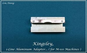 Kingsley Machine M 101 1 line Aluminum Adapter Hot Foil Stamping Machine