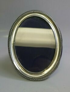 English Sterling Silver Standing Oval Frame 5 1 4 X 3 7 8