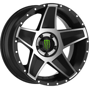 20x10 Black Monster Energy 648mb Wheels 5x5 25 Lifted Chevrolet Tahoe C 1500