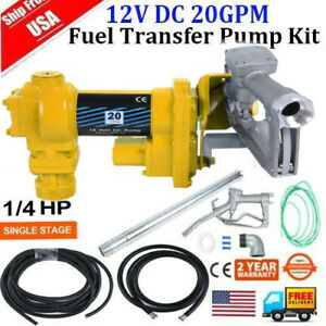 Fuel Transfer Pump 12 V 20 Gpm Dc Gasoline Explosion Proof Pump Fuel Delivery Br