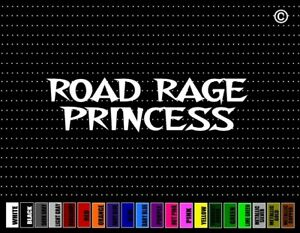 Road Rage Princess Funny Cowgirl Up Country Cute Car Decal Window Vinyl Sticker