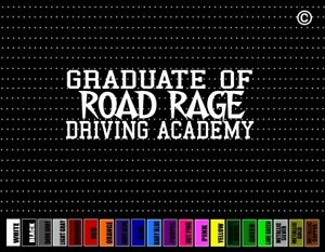 Graduate Road Rage Academy Funny Cute Family Move Car Decal Window Vinyl Sticker