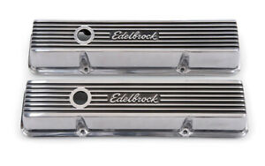Edelbrock Valve Cover Kit Elite Ii Series Sbc Short