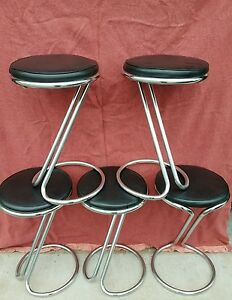 Vintage Z Bar Gilbert Rhode Style Stools Set Of 5
