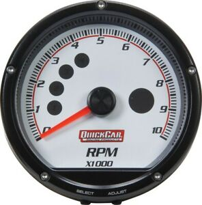 Quickcar Racing Products Redline Multi recall Tach White