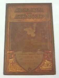 Alabama Georgia Printing Press Plate Home Seekers Opportunity Southern Pride Vtg
