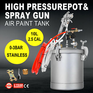2 5 Gallon High Pressure Pot Paint Sprayer 10l House Painting Painter