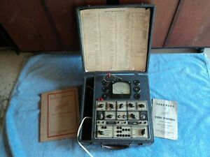 Hickok 51x Antique Tube Tester Shown Testing A 6l6 Tube Great 2a3 Triode Testing