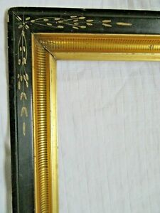 Deep Antique Fits 14 X 19 Gold Picture Frame Wood Fine Art Victorian Eastlake