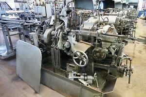 3 4 Davenport Model B Long Bed 5 spindle Automatic Screw Machine New 1973