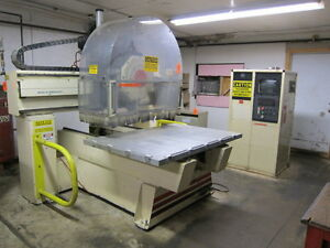 Thermwood Model C 40 3 axis Cnc Router With 8 Position Turret 5 X 5 Table