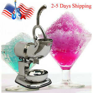 Pro Stainless Steel Ice Shaver Machine Snow Cone Maker Electric Crusher 400lbs h