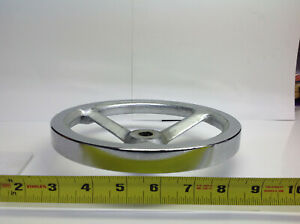 8 Chrome Hand Wheel 5 8 Center Hole Dia 754 c 1