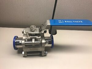 11 2 Sanitary Clampend Stainless Steel Ball Valve