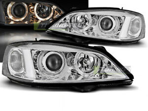 Pair Of Headlights For Opel Astra G 97 04 Halo Rims Chrome Ca Lpop31wd Xino Ca