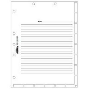 Medical Chart Divider Sheets 8 1 2 X 11 White box Of 400