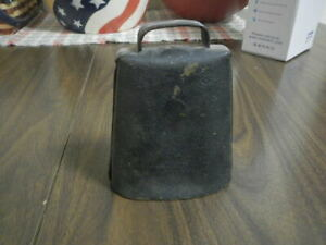 Antique Primitive Metal Steel Cow Calf Bell Farm Livestock