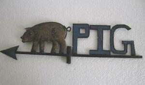 Vintage Old Iron Pig Weather Vane Weathervane