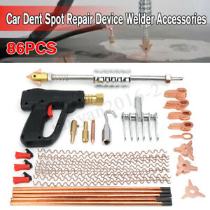 86pcs Car Body Dent Welder Puller Spot Repair Device Welding Gun Slide Hammer