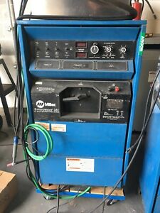 Miller Syncrowave 351 Tig Welder Water Cooler Torch Pedal And Ground Lead