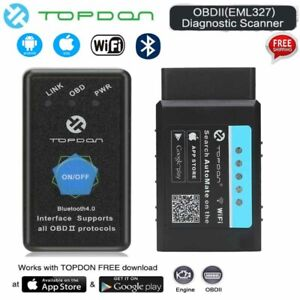 Elm327 Wifi Bluetooth Obd2 Car Diagnostic Code Reader Scanner Tool Android Ios