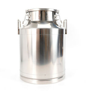 50 Liter 13 25gallon Stainless Steel Milk Can Wine Pail Bucket Tote Jug New