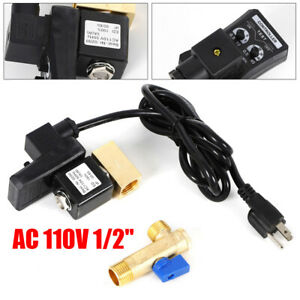 Top 1 2 Electronic Timed 2way Air Compressor Gas Tank Auto Drain Valve us Plug
