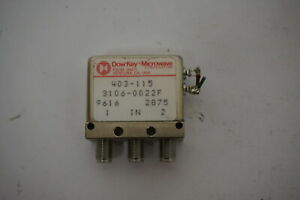 Dowkey Microwave 3106 0022f Coaxial Switch 403 115 9616 2875