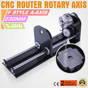 Cnc Router Rotary Axis With 80mm Engraver F Style Rotational 3 jaw Street Price