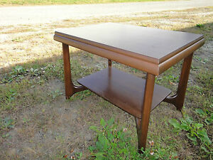 Mersman 37 32 Mid Century Modern End Side Table Two Tier Free Ship Greyhound
