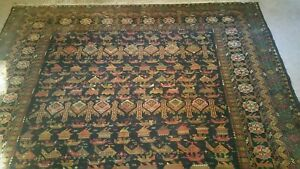 9 5 X 6 7 Ft Vintage Large Hand Made Most Unique And Rarest Nomadic War Rugs