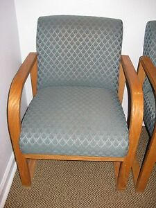 Four Waiting Room Chairs For Medical Office Used In Very Good Condition