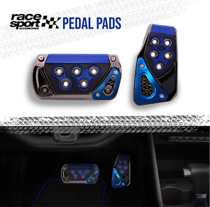 Sports Racing Accelerator Car Blue Brake Pad Pedals Covers Universal Automatic