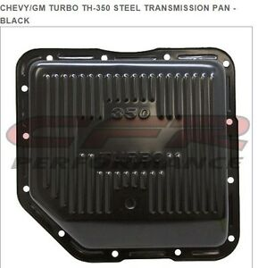Chevy gm Turbo Th 350 Steel Transmission Pan Black
