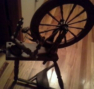 Antique Flax Spinning Wheel