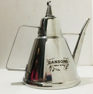 Sansone 3l Stainless Steel Fusti Europa Inox 18 10 Olive Oil Made In Italy