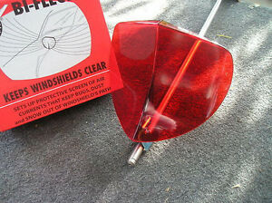New Vintage Style Red Windshield Bug Deflector