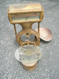 Vintage Antique 1906 Toledo Electric Computing Brass Copper Scale Style 381 D