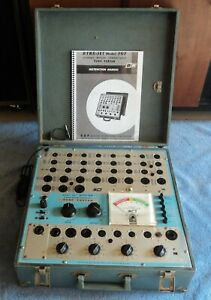 B k Dyna jet Model 707 Tube Tester Shown Testing Tubes With Manual And Data
