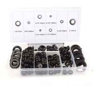 180pc Rubber Grommet Firewall Hole Plug Set Electrical Wire Gasket Assortment