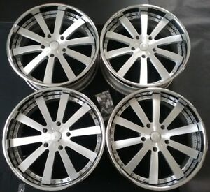 22 X 10 Forgiato Concavo Chrome Polished Wheels lexus land Rover sequoia