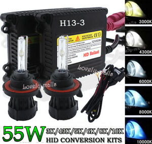 Car Hid Xenon Headlight Conversion Kit Bulb Hi lo Bi xenon 9008 H13 10k 6k 8k Lq