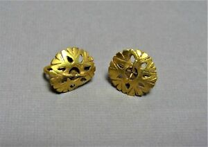 2 Ancient Gold Earrings Byzantine 400 600 Ad