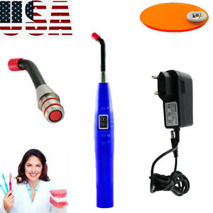 New Dental 10w Cordless Led Curing Light 2000mw Teeth Solidify Blue Light Device