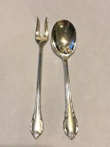 1847 Rogers Bros Is Remembrance Silver Pickle Fork Relish Spoon