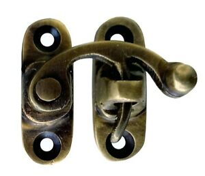 Tiny Vintage Swing Latch Hook Solid Brass Hasp Lock